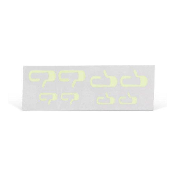 Türöffner Knopfaufkleber (leuchtet im Dunkeln) 8 Stück